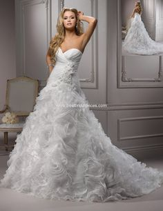 I LOVE how extravagant Maggie Sottero gowns are!