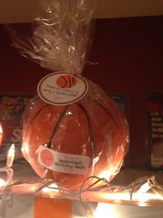 Every kid got a basketball as a party favor!!