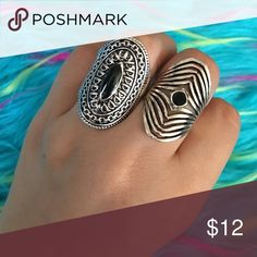 💲BUNDLES 20% OFF Mandala RingCostume Jewelry Ring on the left! 👈🏽 Size 19. The Trendy Kitten Accessories Jewelry Rings