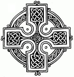 Symbols of Christianity: The Celtic Cross. Combining the cross with a ring surrounding the intersection. It is a characteristic symbol of Celtic Christianity, though it may have older, pre-Christian origins. Celtic Patterns, Celtic Designs, Cross Designs, Celtic Symbols, Celtic Art, Celtic Crosses, Scottish Symbols, Celtic Raven, Irish Symbols