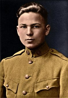 Frank Buckles, the last US veteran of the First World War, in 1917, aged 16. He lied about his age to enlist, failing to join the marines and the navy, but succeeding with the army. He died in 2011, aged 110