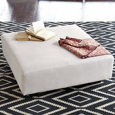 West Elm rug -- graphic, iron and straw colored kilim in a kite/diamond pattern