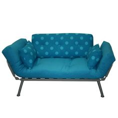 futon idea - vivid teal blue - would stand out in any room!