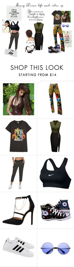 """""""Strong Women"""" by dragonfaery ❤ liked on Polyvore featuring John Galliano, MadeWorn, NIKE, Converse, adidas, ZeroUV, Chrome Hearts, girlpower and powerlook"""
