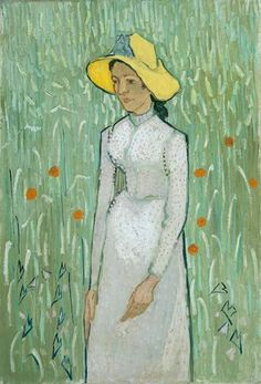Vincent Van Gogh Lady in White 1889
