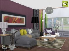 The Sims Resource: Newark Living Room by ArtVitalex • Sims 4 Downloads