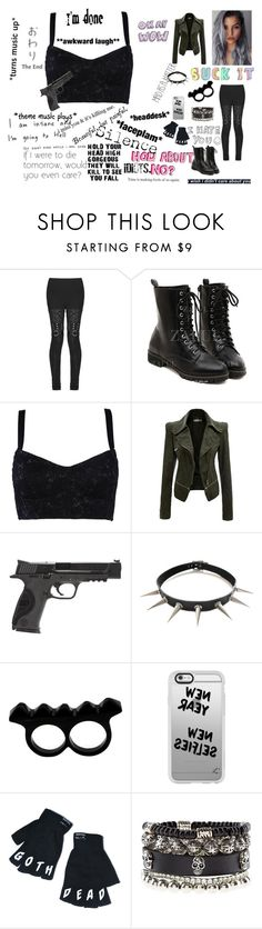 """""""One Hell Of A Badass XD"""" by salvora on Polyvore featuring Dolce&Gabbana, Smith & Wesson, L'Artisan Créateur, Casetify, Kill Star, Chloé, women's clothing, women, female and woman"""
