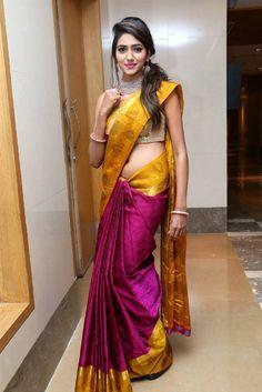 Indian Model Shalu Chourasiya Navel Hip Stills In Blue Saree - Tollywood Stars Beautiful Girl Indian, Most Beautiful Indian Actress, Beautiful Saree, Sonam Kapoor, Deepika Padukone, Indische Sarees, Indian Navel, Indian Photoshoot, Bridal Photoshoot