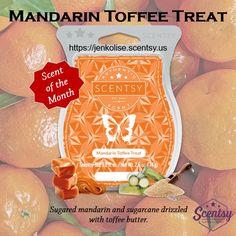 September Scent of the Month - Mandarin Toffee Treat #Scentsy #Autumn #Mandarin # Toffee https://jenkolise.scentsy.us