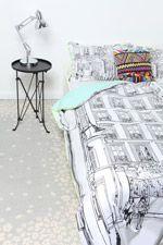 Essenza Paz Double Duvet Set at Urban Outfitters King Sheets, Bed Sheets, Double Duvet Set, Urban Outfitters, Dorm Bedding, Cozy Bed, Duvet Sets, Soft Furnishings, Home Decor Inspiration
