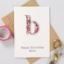 Personalised Liberty Letter Birthday Card