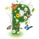 alphabet letters : Beautiful spring letter P