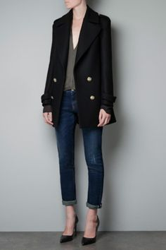 Short Military Jacket - Zara