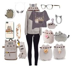 """Pusheen Look ✨"" by macaulere ❤ liked on Polyvore featuring interior, interiors, interior design, home, home decor, interior decorating, claire's and Meadowlark"
