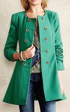 green parker peacoat  http://rstyle.me/n/qr7ympdpe