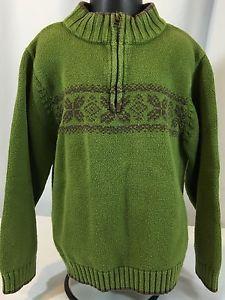 NWT GYMBOREE ARCTIC ADVENTURE HOODED GREEN /& BROWN FAIRISLE SWEATER 12-18 MO