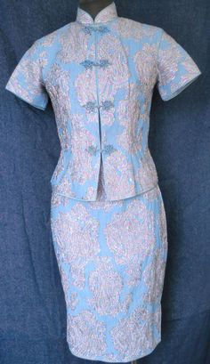1960s Vintage Chinese Cheongsam Dress - Ensemble | eBay