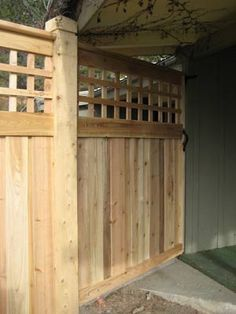 gate + fence with lattice