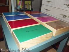 Les boîtes de grammaire Montessori ++ Montessori Elementary, Learning Environments, Primary School, Home Schooling, Classroom, Education, Cycle 2, Preschool, Home Made Games