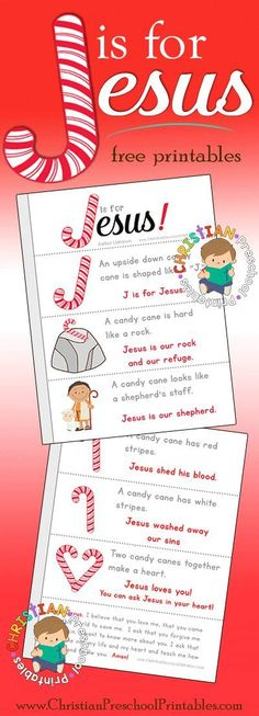 is for Jesus Christmas Bible Printables. This goes perfectly with The Legend of the Candy Cane or other Candy Cane parables.J is for Jesus Christmas Bible Printables. This goes perfectly with The Legend of the Candy Cane or other Candy Cane parables. Pre K, Bible Printables, Christmas Crafts, Christmas Bible, Christmas Lesson, Happy Birthday Jesus, Preschool Christmas, School Crafts, Natal