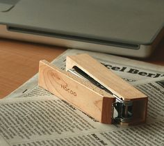 Wood Stapler / A wood stapler essential for your office. This Stapler will surely add a relaxing touch to your office. http://thegadgetflow.com/portfolio/wood-stapler-55/
