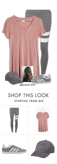 """""""N A N N Y"""" by diamond-arrow ❤ liked on Polyvore featuring Dorothy Perkins, Madewell and adidas Originals"""
