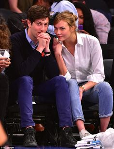 Look of love: Kloss and her beau of three years, Instagram investor Joshua Kushner, 30, attended the Cleveland Cavaliers vs New York Knicks game at Madison Square Garden last month