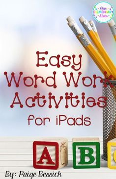 Easy Word Work Activ