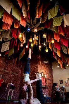 Yoga studio decor