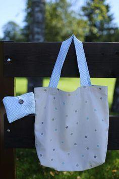 """""""Eine Tüte brauche ich nicht, danke"""" – Ein Tutorial für einen Handtaschen-Einkaufsbeutel   www.das-mach-ich-nachts.com   Bloglovin'"""
