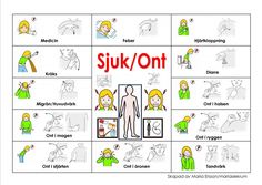 Vill man ha materialet så går man med i Learn Swedish, Swedish Language, American Sign Language, Kids Corner, Pictogram, Preschool, Education, Learning, Inspiration
