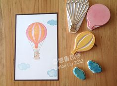 Adorable multi-part Hot Air Balloon Stamp design. Love the layers!