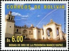 Stamp: 50th Anniversary of the County of Manco Kapac (Bolivia) (History (Geographical history)) Mi:BO 1667,Sn:BO 1287,WAD:BO039.06