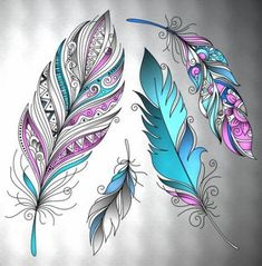 Super tattoo feather thigh wings 36 Ideas in 2020 Feather Drawing, Feather Tattoo Design, Feather Painting, Feather Art, Feather Tattoos, Fabric Painting, Bird Feathers, Flower Tattoos, Body Art Tattoos