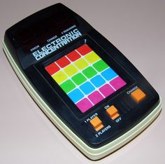 Vintage Electronic Concentration Handheld Game By L.J.N. Toys, Made In Taiwan, Copyright 1979