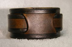 Custom handcrafted leather wristband 1 1/2 by LeatherWristbands, $27.50
