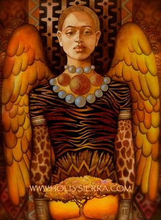 """The African Angel - Bright Messenger Of Hope"" by Holly Sierra"