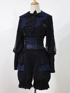 Gothic Lolita Blouse Lace Bow Lolita Shirt - Milanoo.com