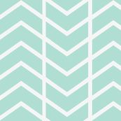 chevron stripe mint by ninaribena, Spoonflower digitally printed fabric, wallpaper, and gift wrap