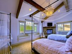5 Bedroom, 5 Bath, Park City, Utah - guest bedroom. I like the window seats.