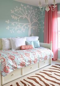 Modify slightly for P's room, love the curtains especially.
