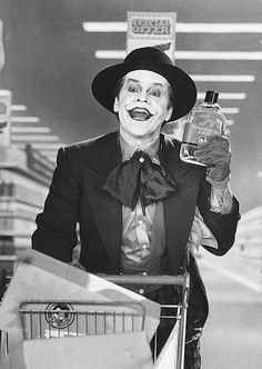 Jack Nicholson as the Joker....favorite joker
