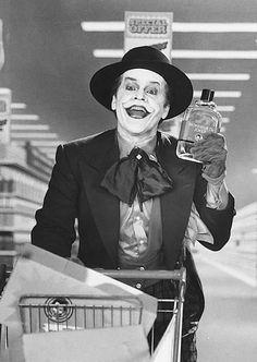 Jack Nicholson as the Joker....favorite joker