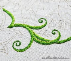 Very nice color choices in this Secret Garden Embroidery Project - Stem Stitch Tips