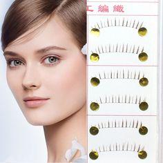 10 Pairs Natural Long Lower False EyeLashes Makeup Handmade Fake False Eye Lashes Down Eyelash Extension Red Brown Color