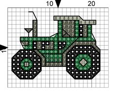 Image result for free john deere tractor cross stitch pattern