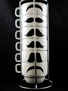 Make these mustache mugs using the Cricut Craft Room Exclusives: Mustaches & Glasses!