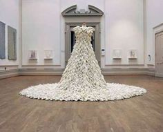 A Dress Made of 1400 Rubber Gloves