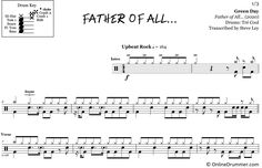 "Play ""Father of All"" by Green Day with our note-for-note drum sheet music. Drum Sheet Music, Drums Sheet, Drum Key, Music Stand, Greenday, Ready To Play, Your Music, You Are Awesome, Father"