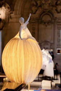 lampe papier basteln hängend tischlampe tanzende dame